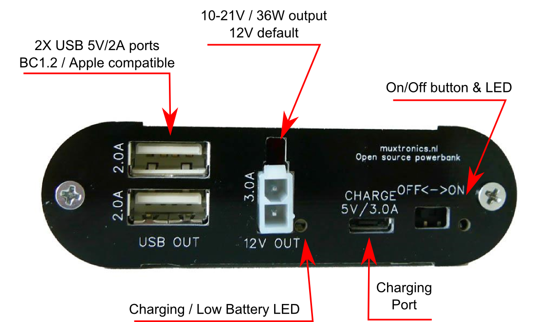 Open source 12V powerbank