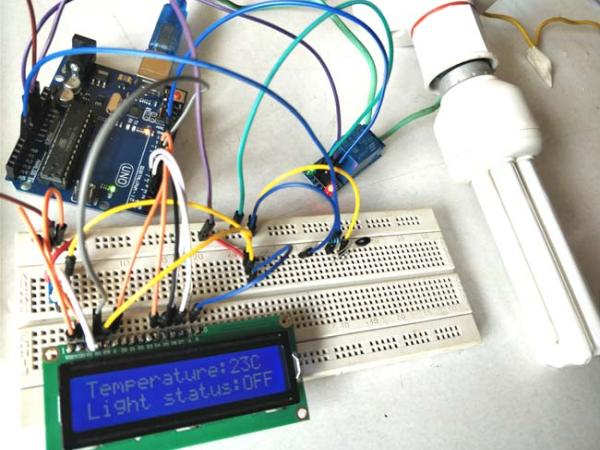 Temperature Controlled AC Home Appliances using Arduino and Thermistor
