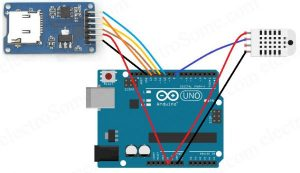 Temperature and Humidity Data Logger using Arduino Schematic
