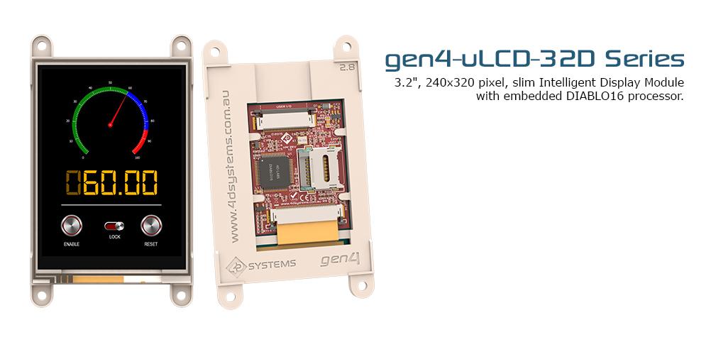 "gen4 3.2"", The New Intelligent Display Modules"