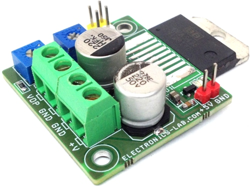 1.2V-25V 10A Adjustable Power Supply Using Power Op-Amp
