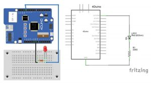 4Duino LED Brightness Control schematic