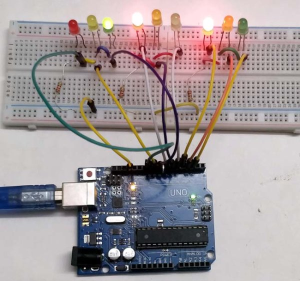 Arduino Based 3-Way Traffic Light Controller