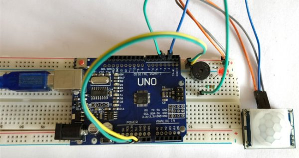 Arduino Motion Detector using PIR Sensor