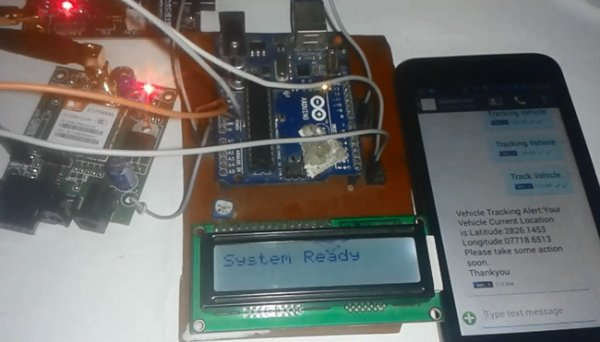 Arduino based Vehicle Tracker using GPS and GSM