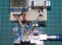 Arduino distance meter with Ultrasonic Sensor (HC SR04) and Nokia 5110 LCD display