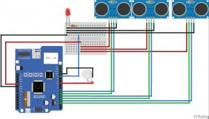Assistance for Visually Impaired featuring 4Duino-24 schematic