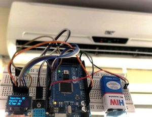 Automatic AC Temperature Controller using Arduino, DHT11 and IR Blaster