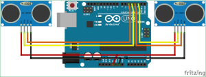 Control your Computer with Hand Gestures using Arduino schematic