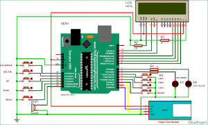 Fingerprint Based Biometric Voting Machine using Arduino schematic