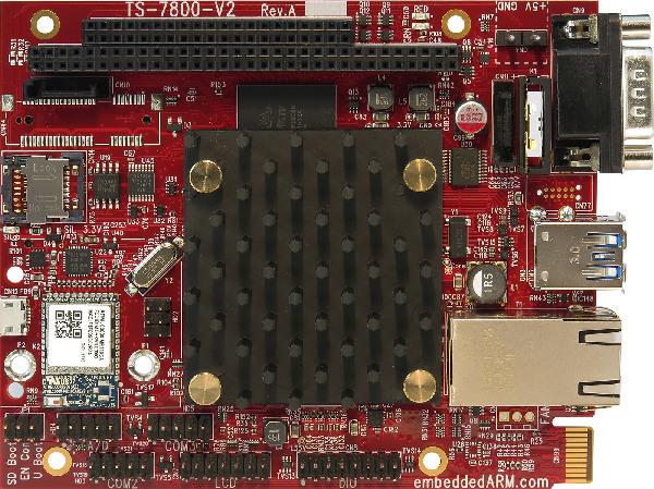 High Performance SBC TS-7800-V2 Runs Debian With Linux 4.4.8