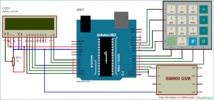How to Send Data to Web Server using Arduino and SIM900A GPRS GSM Module schematic