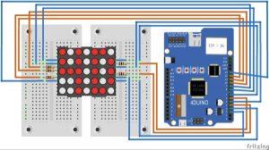 LED Matrix Controller schematic