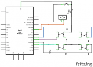 Playing Melodies using Arduino Tone() Function schematic