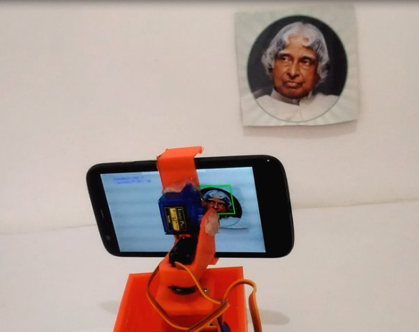 Real Time Face Detection and Tracking Robot using Arduino