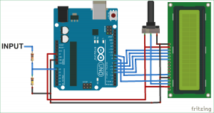 Simple Arduino Digital Voltmeter schematic