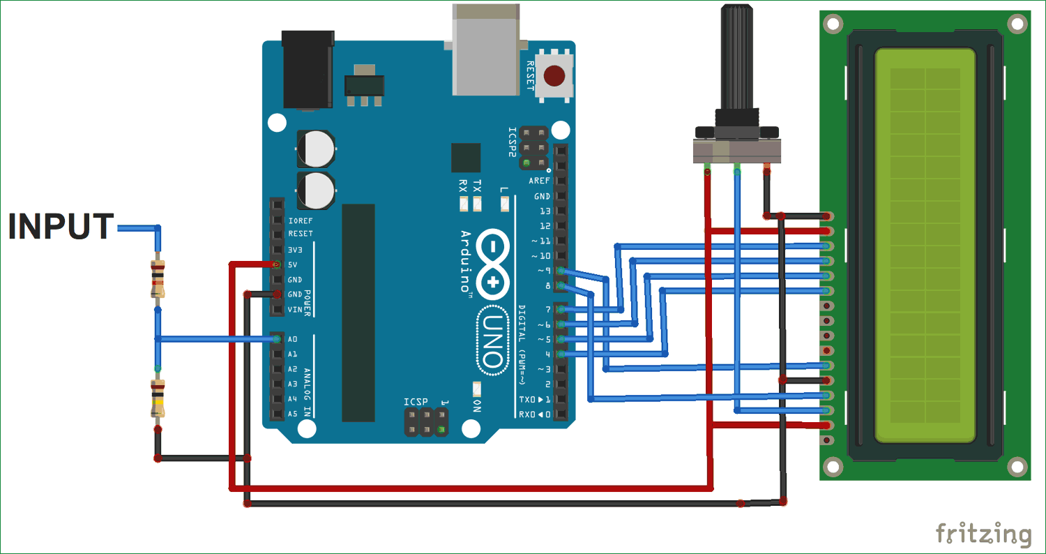 Simple Arduino Digital Voltmeter Use For Projects Circuit Diagram With Schematic