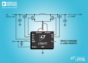 Synchronous four-switch buck-boost controller suits transport and medical use