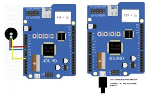 Wireless Pulse Rate Monitor featuring 4Duino-24 schematic