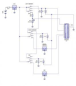 Adaptable Sensor and Notification System schematics