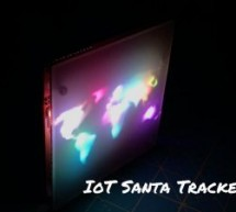 IoT Santa Tracker on Colorful World Map