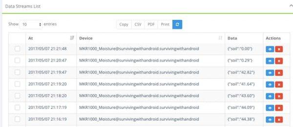 IoT System To Monitor Soil Moisture With Arduino schematics