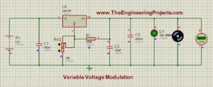 LM317 Voltage Regulator in Proteus