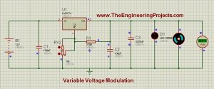 LM317 Voltage Regulator simulation will look like as shown in the image below