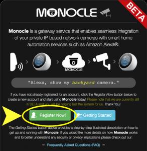 Monocle View & Control IP Cameras with Alexa & Arduino schematics