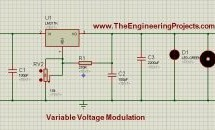 LM317 Voltage Regulator in Proteus