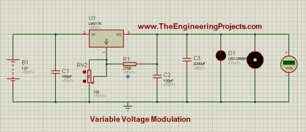 LM317 Voltage Regulator in Proteus -Use Arduino for Projects