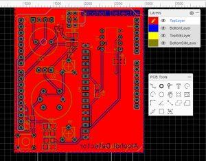 Arduino Alcohol Detector Circuit Board schematics
