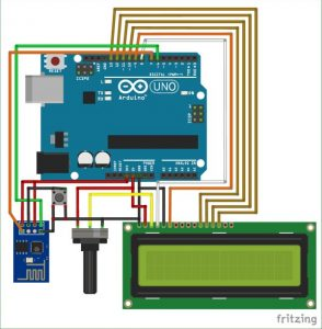 Arduino with ESP8266 - Reading Data from Internet schematics