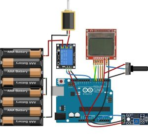 Automatic Irrigation System using Arduino schematics