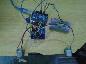 DC Motor Speed Control using GY 521 Gyro Accelerometer and Arduino