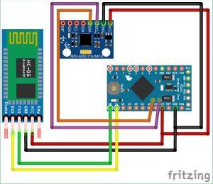 DIY Arduino Inclinometer using MPU6050 schematics