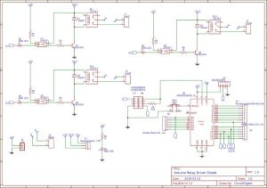 DIY Arduino Relay Driver Shield schematics