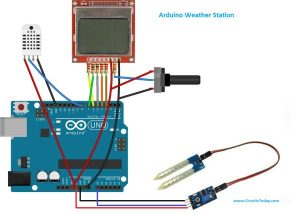 DIY Arduino Weather Station using Nokia Display schematics
