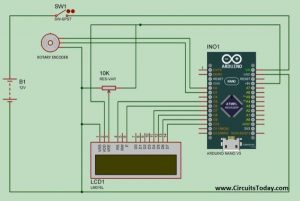 DIY Measuring Wheel Surveyor's Wheel Using Arduino & Rotary Encoder schematics