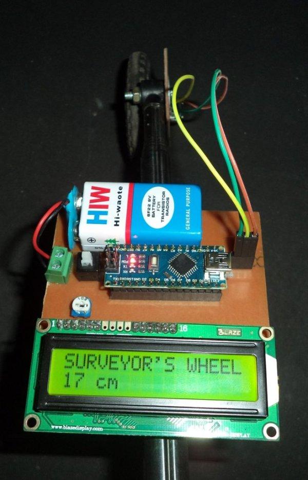 DIY Measuring Wheel Surveyor's Wheel Using Arduino & Rotary Encoder