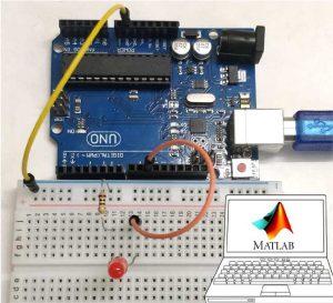 Interfacing Arduino with MATLAB - Blinking LED