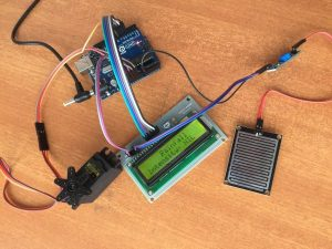 Rain Sensing Wiper using Arduino and Servo Motor