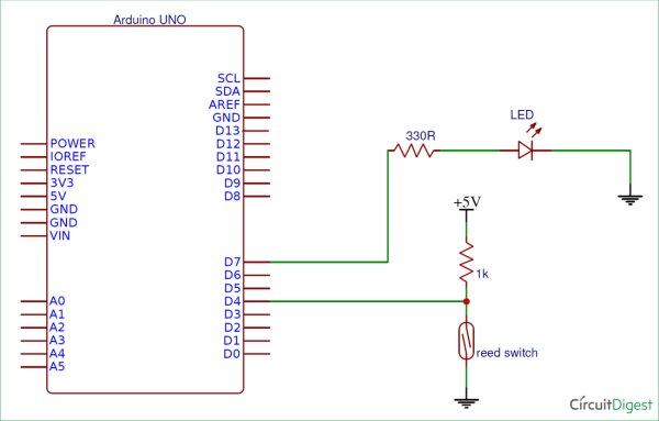 Reed Switch Interfacing With Arduino Use Arduino For Projects