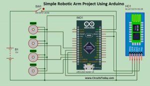 Simple Robotic Arm Project Using Arduino schematics