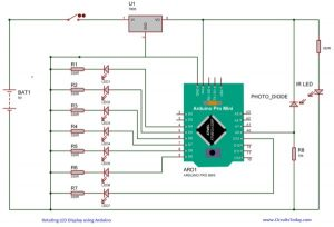 Spinning or Rotating LED Display using Arduino POV schematics
