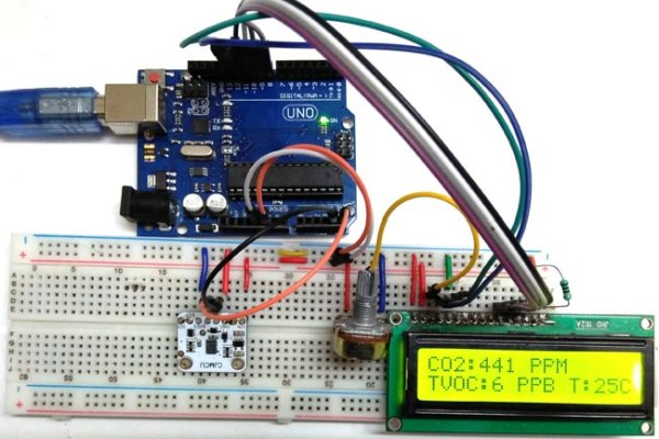 TVOC and CO2 Measurement using Arduino and CCS811 Air Quality Sensor