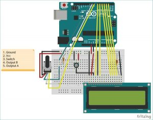 What is Rotary Encoder and How to Use It with Arduino schematics