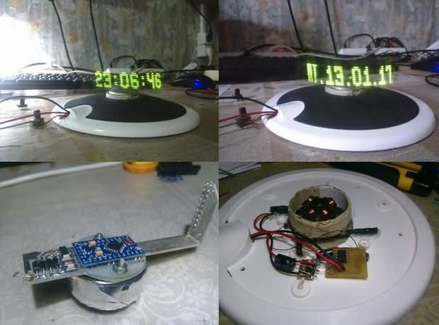 ARDUINO LED POV CLOCK