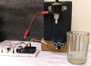 Automatic-Water-Dispenser-using-Arduino-in-action