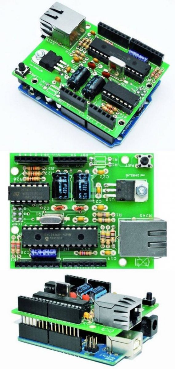 CIRCUIT SCHEMATIC ENC28J60 ETHERNET MODULE FOR ARDUINO KIT